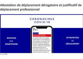 Coronavirus Attestation déplacement