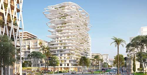 Joia m ridia un nouveau quartier qui dessine le nice du for Architecture 21eme siecle