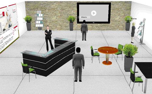 Sophia new net 3d ouvre les sites web la 3 me - Mon salon en 3d ...